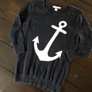 Banana Republic Navy and white anchor sweater